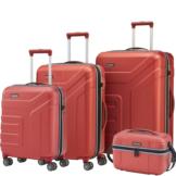 Travelite VECTOR 4w Koralle 4 tlg. Trolley Set